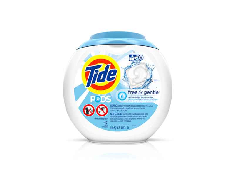 Tide Pods Free & Gentle, 51 count