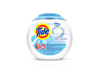 Tide Pods Free & Gentle, 51 count - Image 1