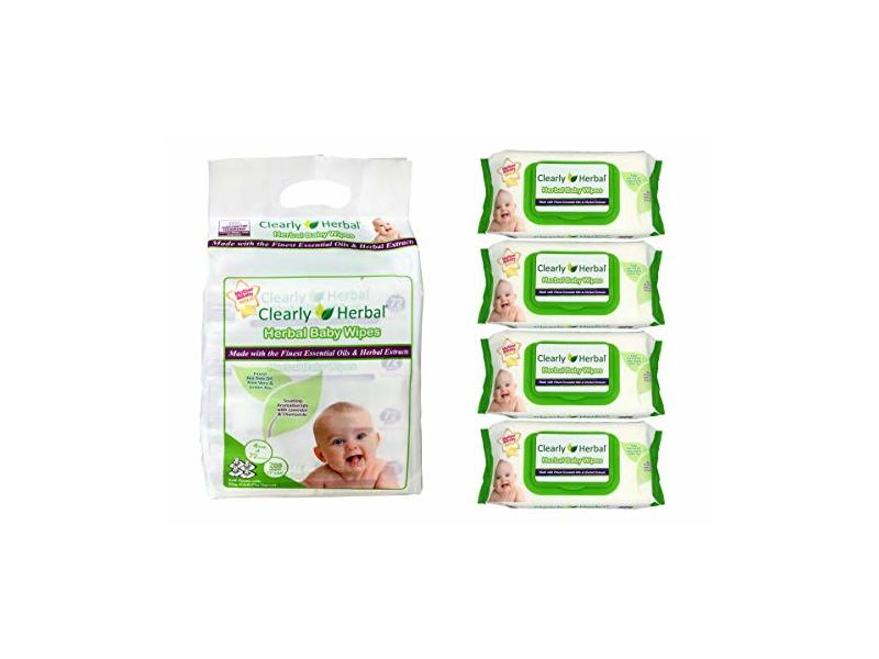 Clearly Herbal Baby Wipes, 72 Count