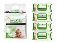 Clearly Herbal Baby Wipes, 72 Count - Image 2