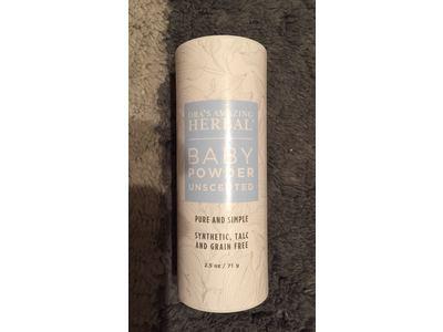 Ora's Amazing Herbal Baby Powder, Unscented, 2.5 oz - Image 3
