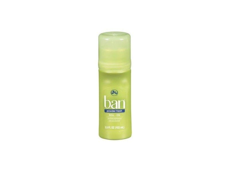 Ban Deodorant Roll-On Powder Fresh, 3.5 fl oz