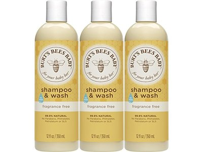 Burt's Bees Baby Shampoo & Wash, Fragrance Free, 12 Ounces