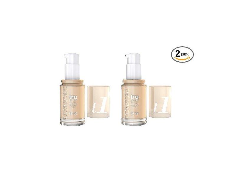 CoverGirl Trublend Liquid Makeup, Ivory L1, 1 fl oz, (pack of 2)