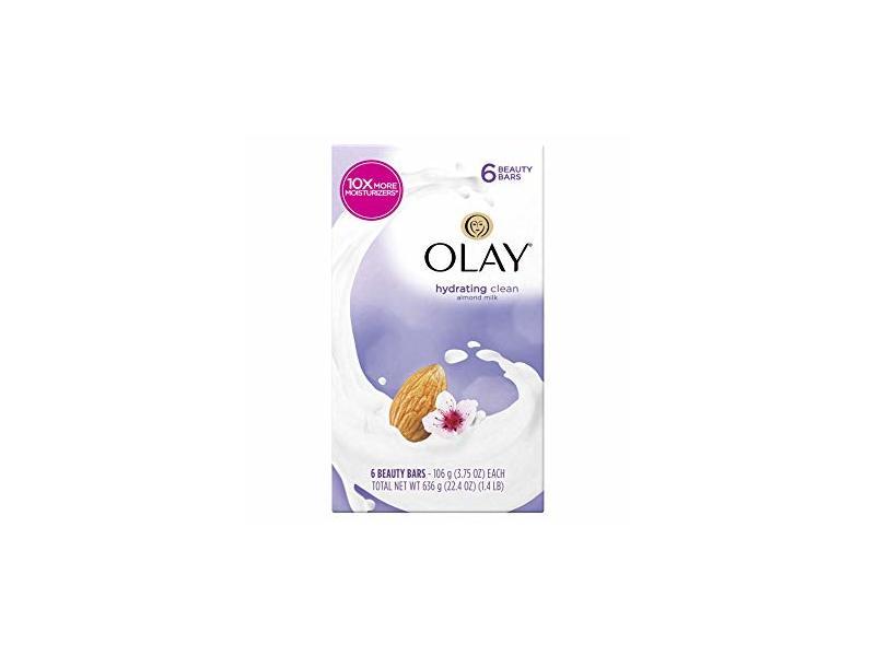 Olay Hydrating Clean Beauty Bars, Almond Milk, 3.75 oz, 6 ct