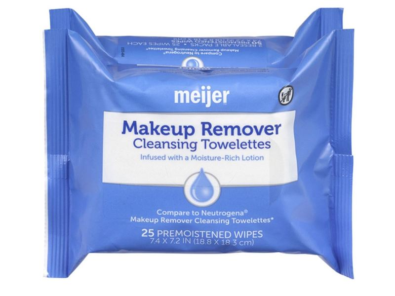 Meijer Makeup Remover Cleansing Towelettes, 25 ct