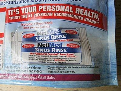 NeilMed Sinus Rinse Premixed Packets, 250 ct - Image 3