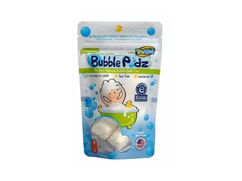 TruKid Eczema Care Bubble Podz, Natural Kids / Baby Bubble Bath, Unscented, 8 Counts
