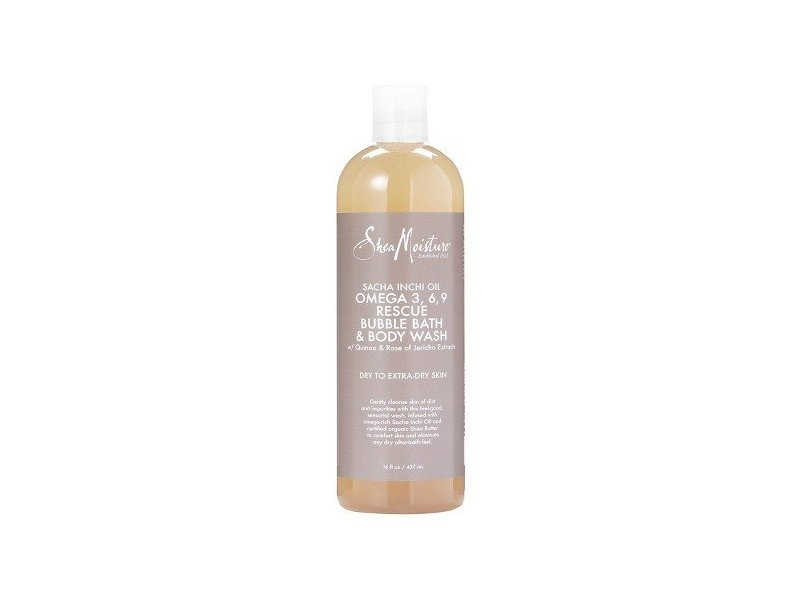 Shea Moisture Sacha Inchi Oil Omega-3-6-9 Rescue Bubble Bath & Body Wash for Unisex, 16 Ounce