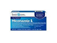 Basic Care Miconazole 1 Vaginal Antifungal, Combination Pack - Image 2