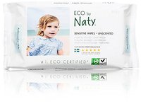 ECO by Naty Sensitive Wipes, Unscented, 3 boxes of 56 (168 Count) - Image 3
