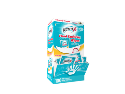Germ-X Antibacterial Soft Hand Wipes Singles, 100 count box - Image 1