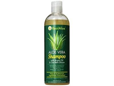Real Aloe Mild Shampoo, Aloe Vera, 16 Fluid Ounce