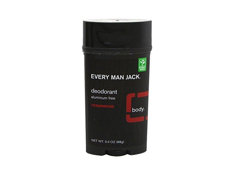 Every Man Jack Deodorant, Cedarwood, 3 oz