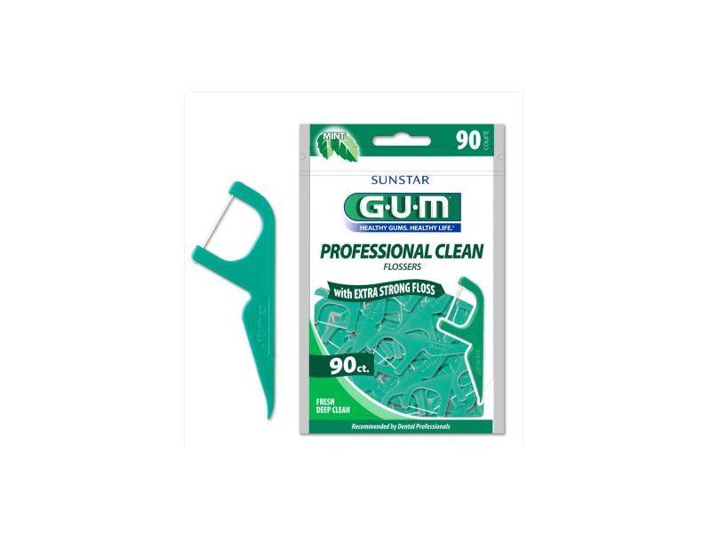 Sunstar GUM Professional Clean Flossers, Fresh Mint, 90 count