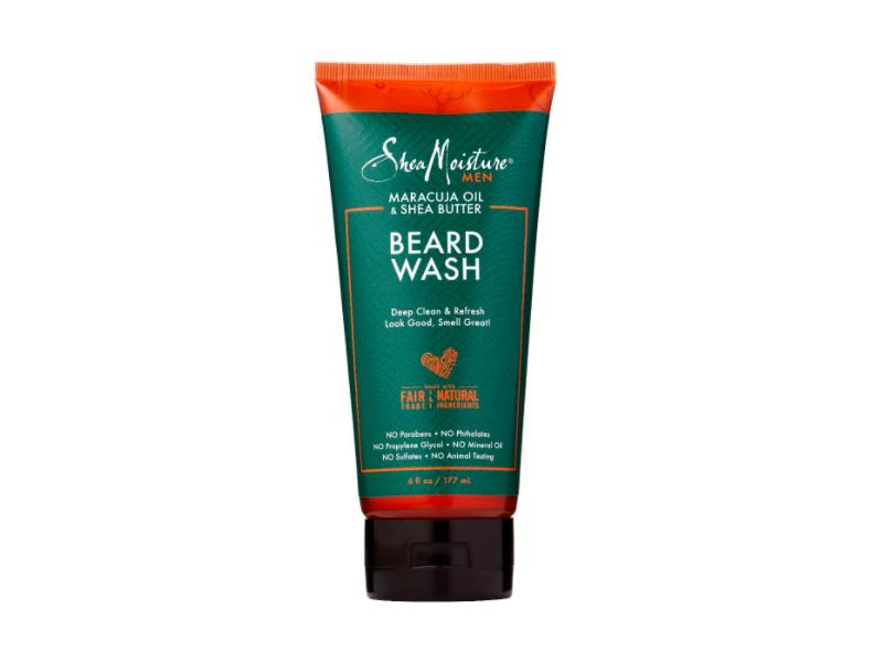 Sheamoisture Maracuja Oil & Shea Butter Beard Wash Deep Clean & Refresh, 6 fl oz