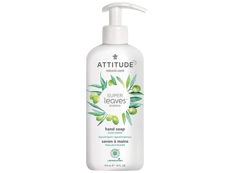 Attitude Super Leaves Hand Soap, Olive Leaves, 16 fl oz/473 ml