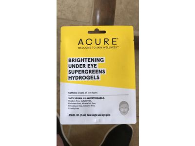 ACURE Brightening Under Eye Supergreens Hydrogels Mask - 1 Count - Image 3