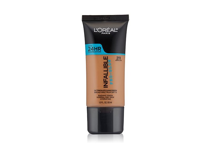 L'Oréal Paris Infallible Pro-Glow Foundation, Creme Cafe, 1 fl. oz.