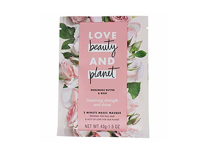 Love Beauty Planet Magic Hair Masque, Murumuru Butter & Rose, 1.5 oz