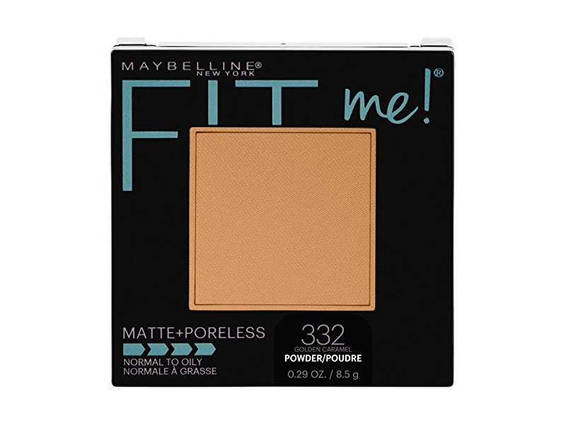 Maybelline New York Fit Me Matte + Poreless Pressed Face Powder Makeup, Golden Caramel, 0.28 Ounce
