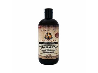 Sunny Isle Jamaican Black Castor Oil 2-in-1 Hair & Beard Wash for Men, Black, 12 Fluid Ounce