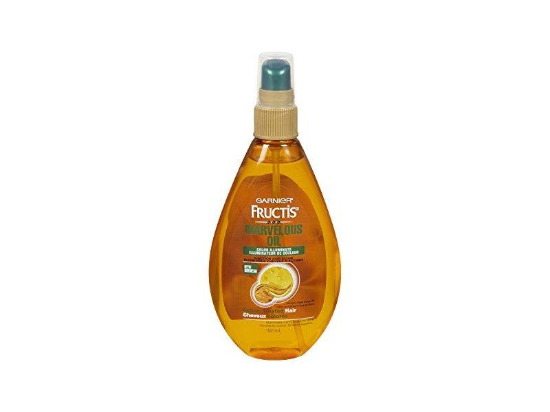 Garnier Skin and Hair Care Fructis Marvelous Oil Color Illuminate 5 Action Hair Elixir for Color Treated Hair, 5 Fluid Ounce