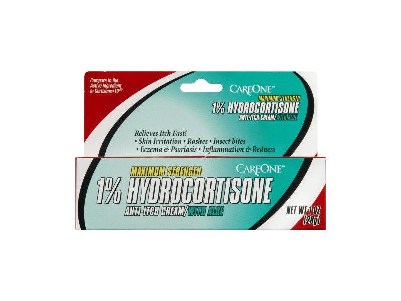 CareOne Maximum Strength 1% Hydrocortisone Anti-Itch Cream/with Aloe, 1 oz
