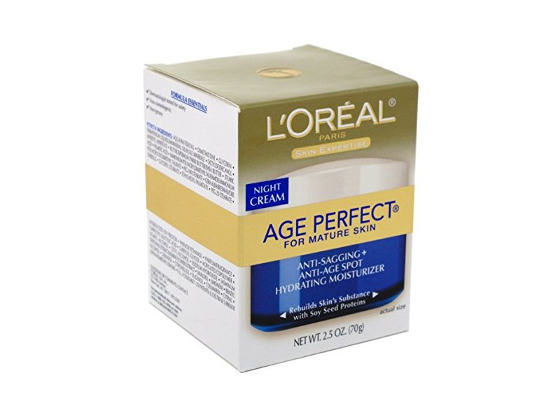 L'Oreal Dermo Exp Cream Night Age Perfect, 2.5 Oz