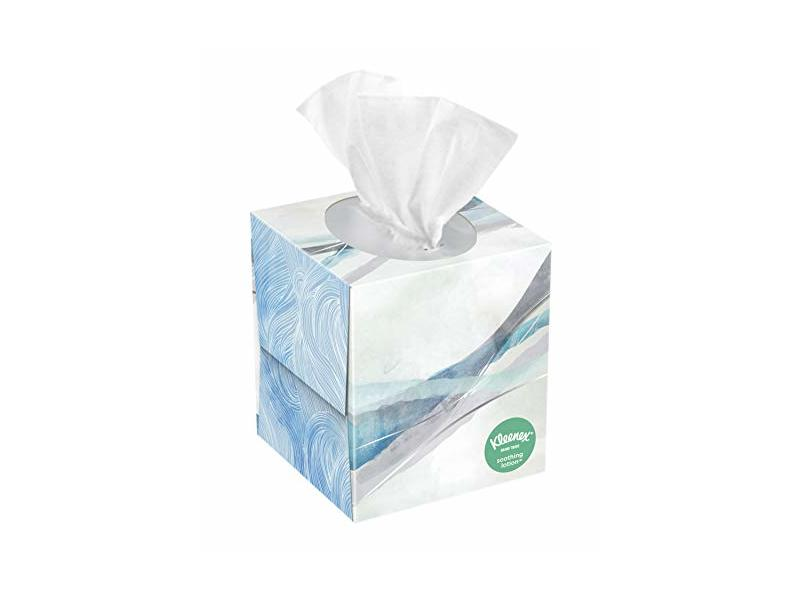 Kleenex Soothing Lotion Facial Tissues with Aloe & Vitamin E, 65 Ct