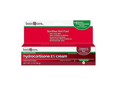 Basic Care Hydrocortisone 1% Cream, Anti-Itch Cream, 2 Ounce