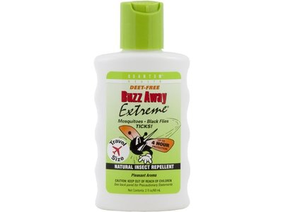 Quantum Buzz Away, Extreme , Squeeze, Bottle, Travel Size, Deet Free, 2-Ounce (Pack of 2)