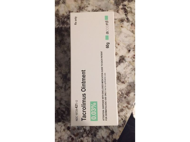 Tacrolimus Ointment 0.03% (RX), 60G Accord Healthcare Inc.