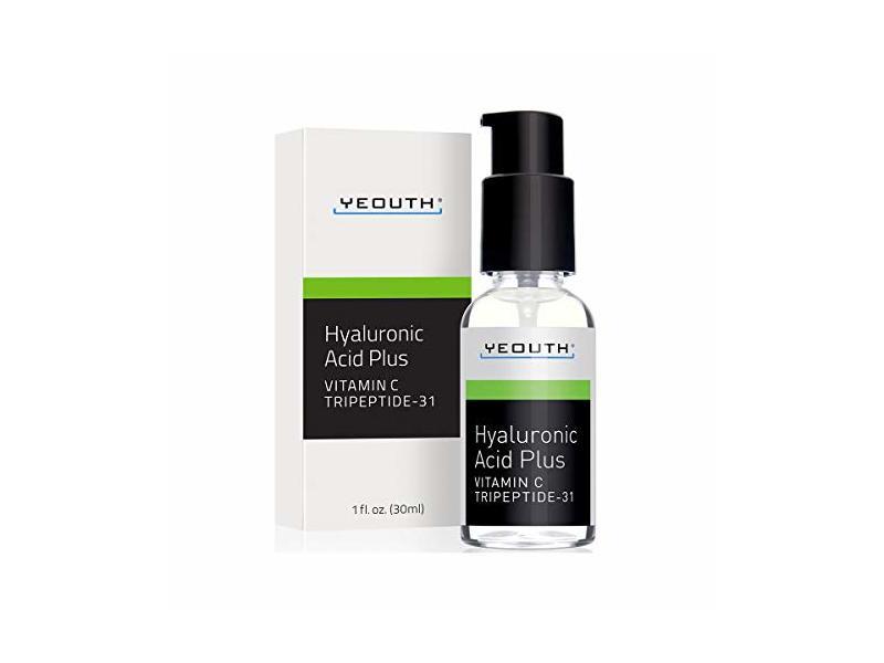 Yeouth Best Anti Aging Vitamin C Serum With Hyaluronic Acid & Tripeptide-31, 1 fl oz/30 mL