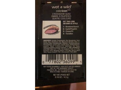 Wet N Wild Color Icon Eyeshadow Quad, Petalette 344B, .16 oz - Image 4