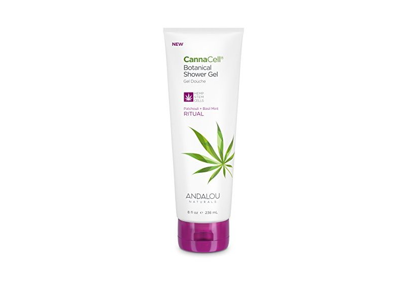 Andalou Naturals CannaCell Shower Gel, Ritual, 8 Ounce Tube