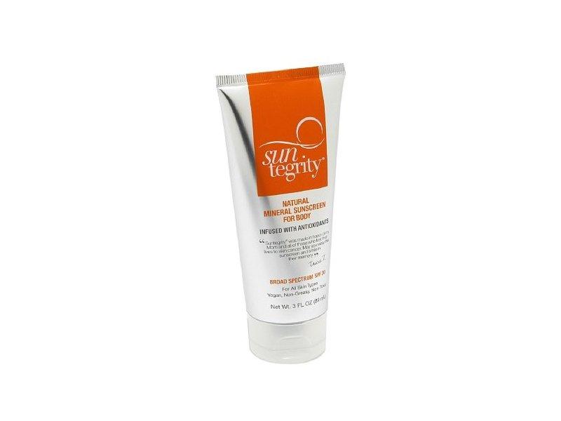 Suntegrity Natural Mineral Sunscreen for Body, SPF 30, 3 oz