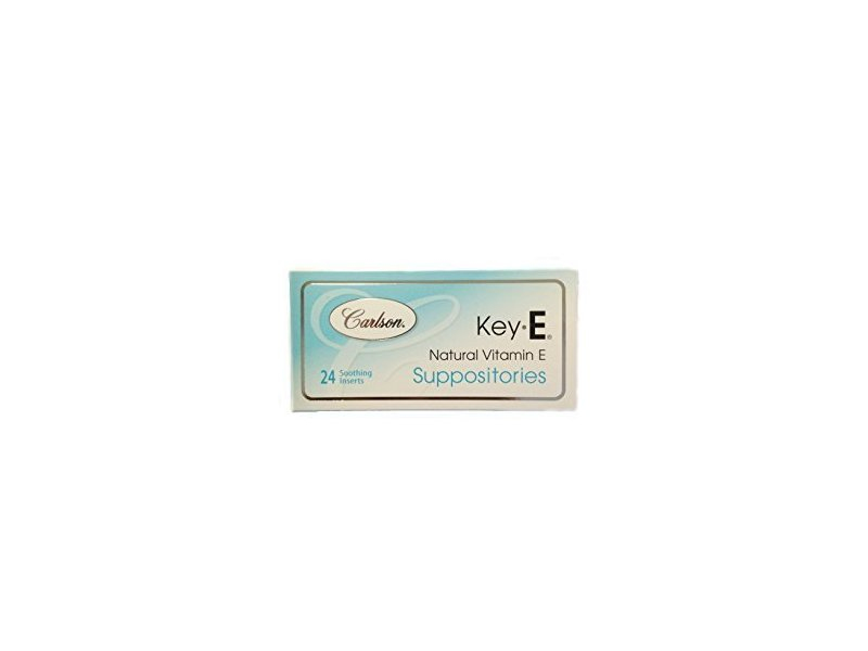 Carlson Key-E Suppositories for Women, 24 ct