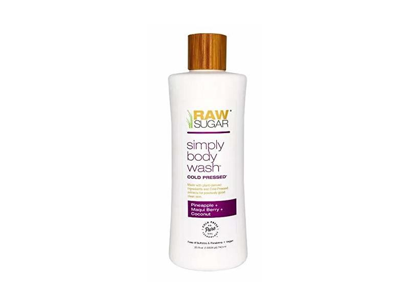Raw Sugar Simply Body Wash Pineapple + Maqui Berry + Coconut, 25 fl oz