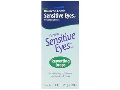 Bausch & Lomb Sensitive Eyes Rewetting Drops, 1 fl oz