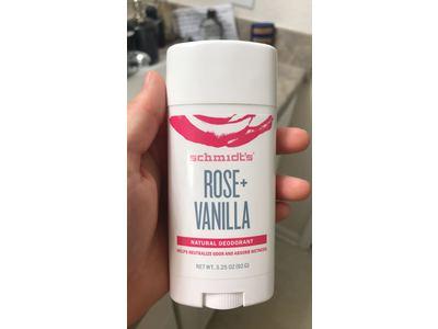 Schmidt's Natural Rose + Vanilla Deodorant Stick, 3.25 oz - Image 4