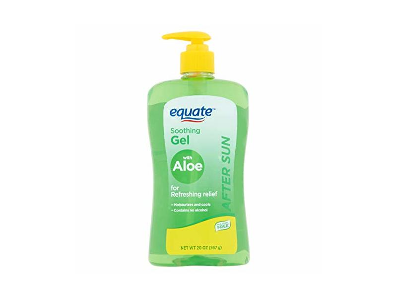 Equate After Sun Moisturizing Soothing Gel with Aloe, 20 oz