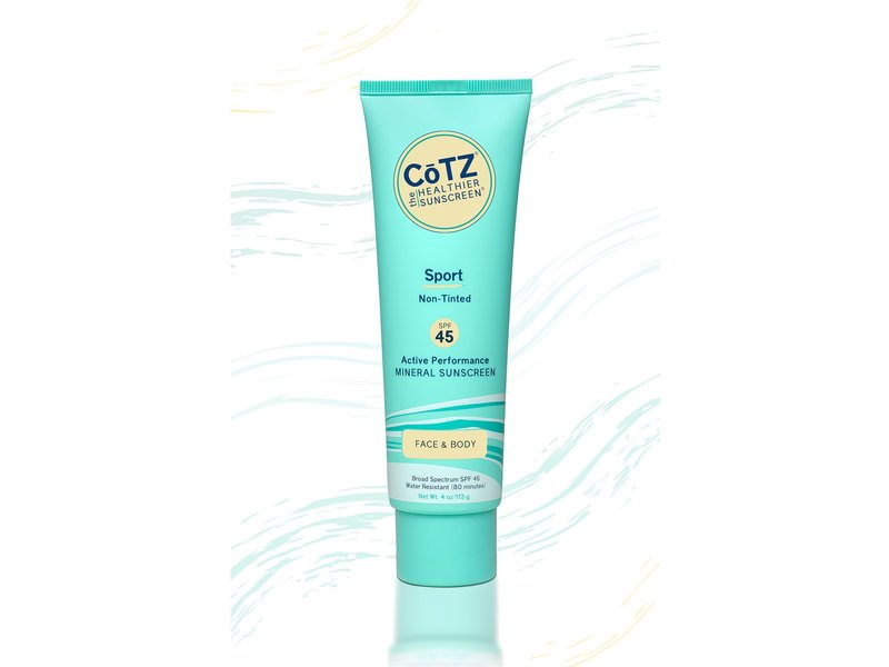 CoTZ Sport Non-Tinted Mineral Sunscreen, SPF45, 4 oz/113 g