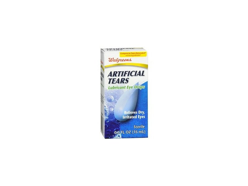 Walgreens Artificial Tears Lubricant Eye Drops, .5 oz