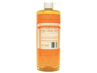 Dr. Bronner's Magic Soaps Liquid Castile Soap, Tea Tree, 32 oz