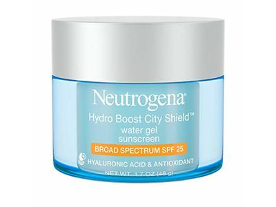 Neutrogena Hydro Boost City Shield Water Gel, Hyaluronic Acid & Antioxidant, SPF 25, 1.7 oz/48 g