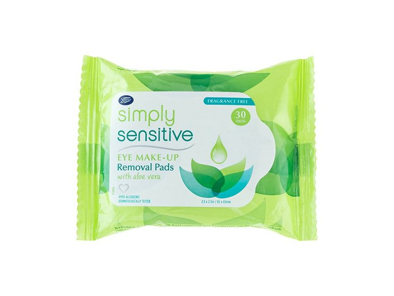 Boots Simply Sensitive Eye Make-Up Removal Pads