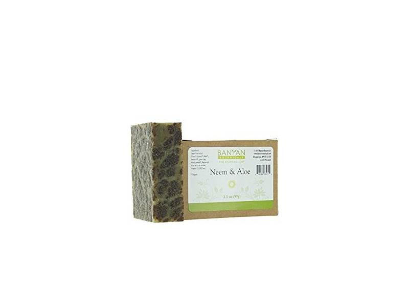 Banyan Botanicals Neem & Aloe Soap, Cooling & Soothing, 3.5 oz