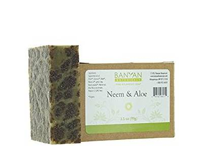 Banyan Botanicals Neem & Aloe Soap, Cooling & Soothing, 3.5 oz