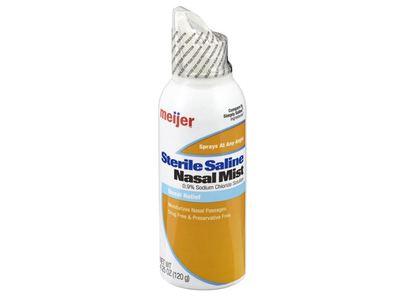 Meijer Saline Nasal Spray Ultra-Gentle Mist Nasal Relief, 4.25 fl oz